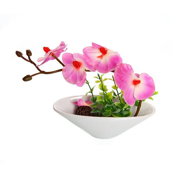 Цветы искусственные в тарелке ″Орхидея″ 16 см 078 купить оптом и в розницу