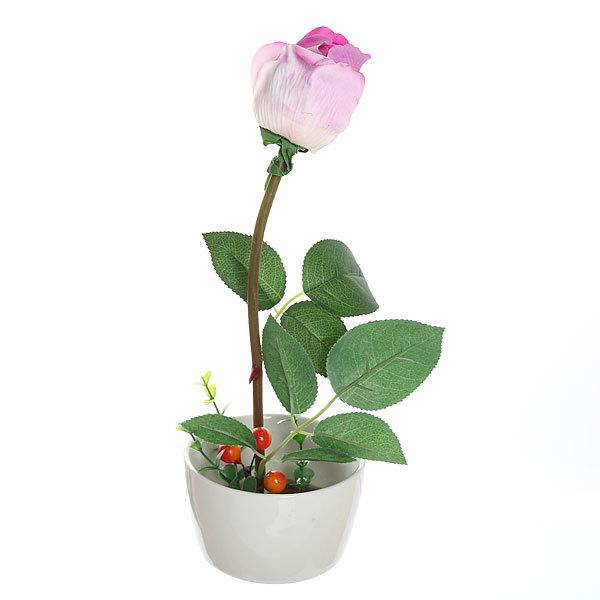 Цветы искусственные в тарелке ″Роза″ 28 см 129 купить оптом и в розницу