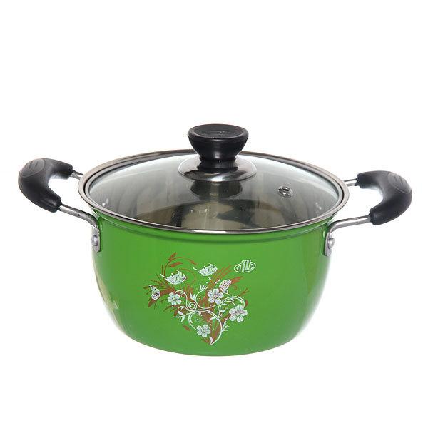 Кастрюля металлическая d 18 см .2,5л зеленая купить оптом и в розницу