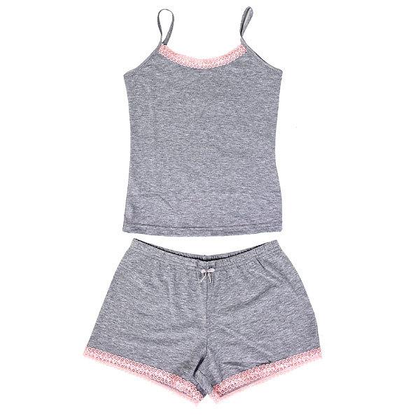 Пижама женская цвет меланжевый арт. 10 р-р 46 купить оптом и в розницу
