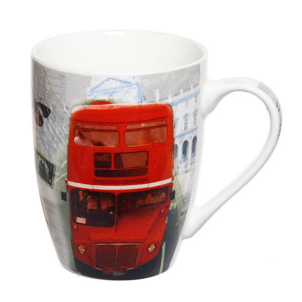 Кружка керамическая 300мл ″Автобусы″ в коробке купить оптом и в розницу
