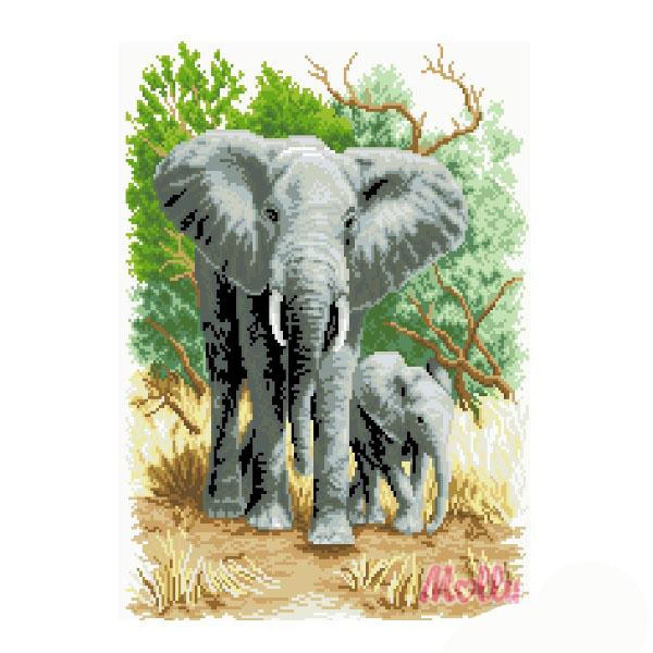Набор ДТ Картина мозаикой Слоны на прогулке GZ131 купить оптом и в розницу
