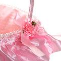 Корзина декоративная с тканью и цветами 26*20*9 см В35 купить оптом и в розницу