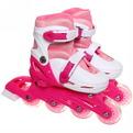 Коньки роликовые раздвижные Happy Star 139-1 розовый/белый р-р S (29-33,колеса PVC) купить оптом и в розницу
