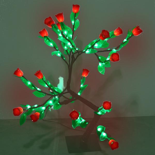 Световое дерево LED 50см, 108 ламп,″Тюльпаны″, 8 режимов купить оптом и в розницу