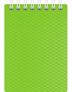"""Блокнот А7 80л.кл.спираль,пласт.обл.HATBER, """"DIAMOND NEON Зеленый"""" купить оптом и в розницу"""