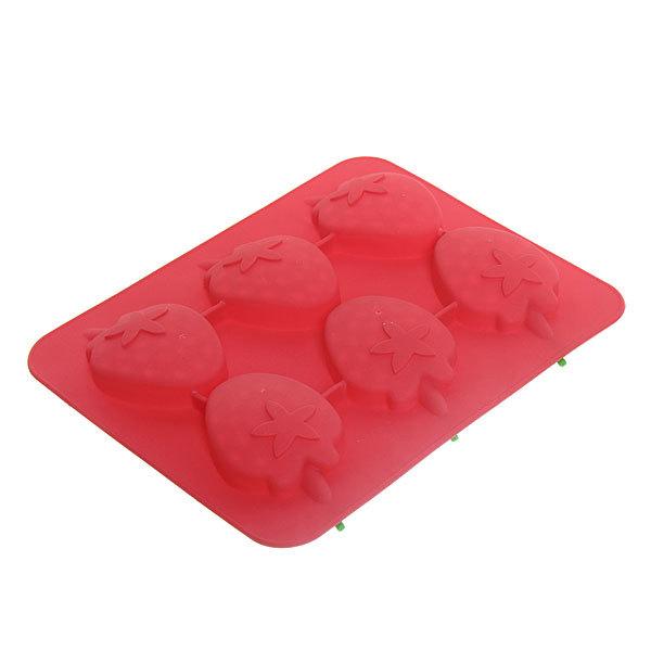 Форма для льда силиконовая ″Клубника″ в коробке купить оптом и в розницу