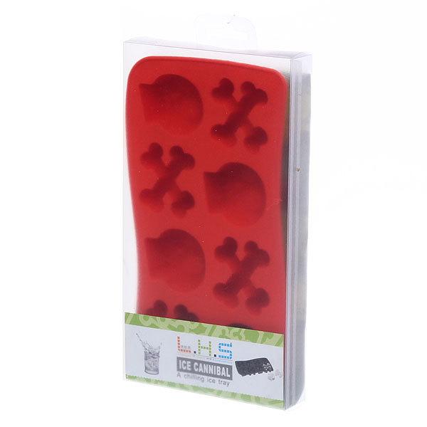 Форма для льда силиконовая ″Черепа и кости″ в коробке купить оптом и в розницу