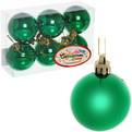 Новогодние шары ″Изумруд″ 5см (набор 6шт.) купить оптом и в розницу