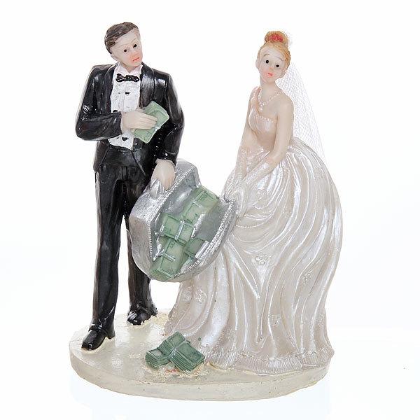 Статуэтка из полистоуна ″Жених и невеста миллионеры″ 12,5*9см купить оптом и в розницу
