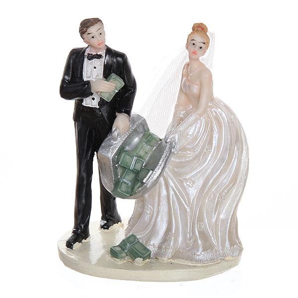 Статуэтка из полистоуна ″Жених и невеста миллионеры″ 13*9см 87263-2 купить оптом и в розницу