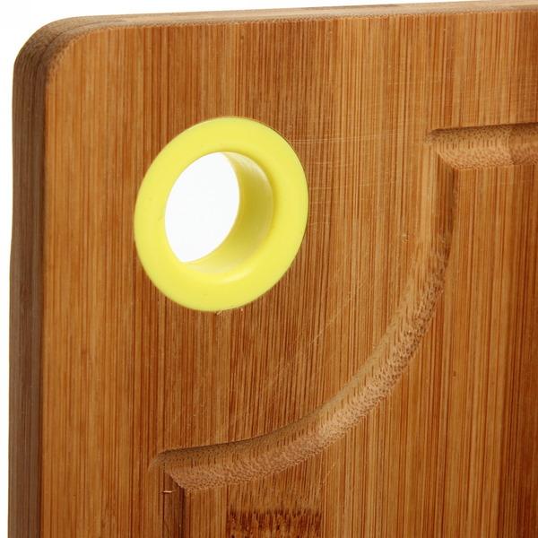 Доска разделочная из бамбука с пластиковым кольцом 33*24*1,7см купить оптом и в розницу