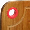 Доска разделочная из бамбука с пластиковым кольцом 19*27*1,7см капелька купить оптом и в розницу
