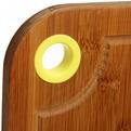 Доска разделочная из бамбука с пластиковым кольцом 33*24*1,7см капелька купить оптом и в розницу