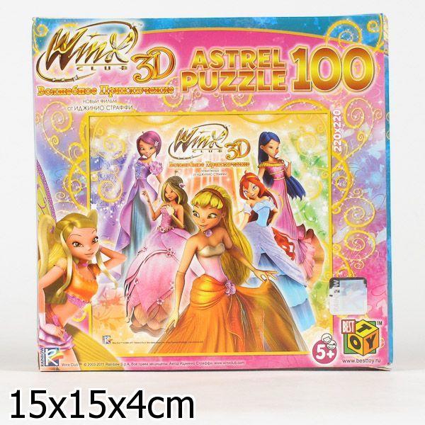 Пазл 100 3D Стелла и Феи 11156 Астрайт /10/ купить оптом и в розницу