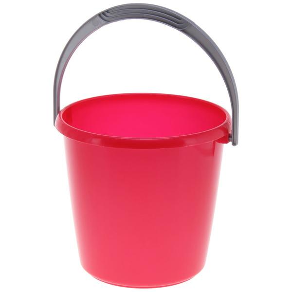 Ведро пластиковое ″Соло″, перламутровое, красное, 3л купить оптом и в розницу