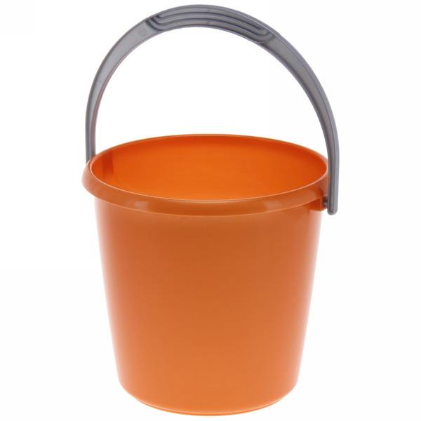 Ведро 3л ″Соло″ перламутровое оранжевое купить оптом и в розницу