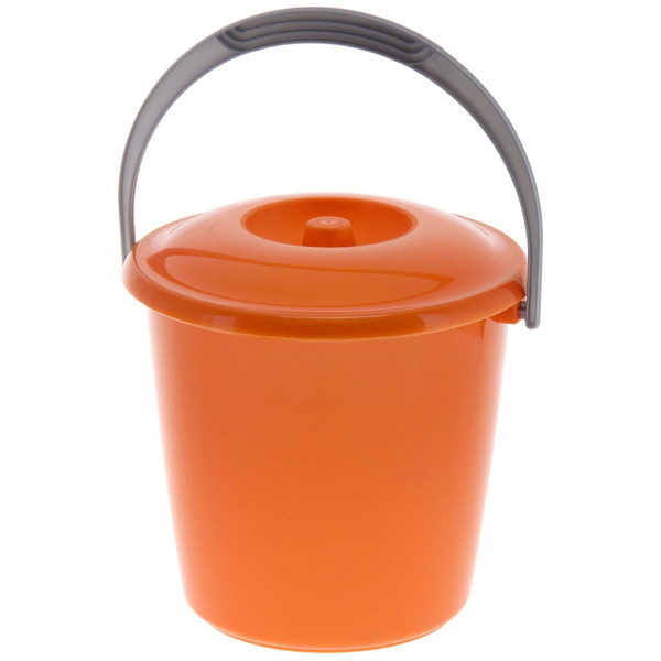 Ведро ″Соло″ 3л с крышкой перламутровое оранжевое С630КОРЖ купить оптом и в розницу