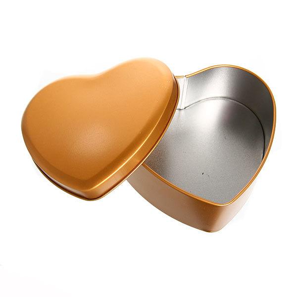 Шкатулка металлическая ″ Сердце ″ золотое 3 шт (11*12*5, 9*9*4, 7*7*4) купить оптом и в розницу