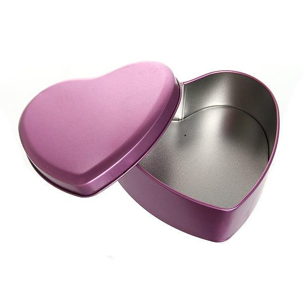 Шкатулка металлическая ″ Сердце ″ фиолетовое 3 шт (11*12*5, 9*9*4, 7*7*4) купить оптом и в розницу