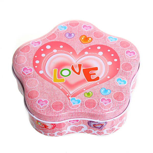 Шкатулка металлическая ″ Любовь - 2″, 12*12*4 см купить оптом и в розницу