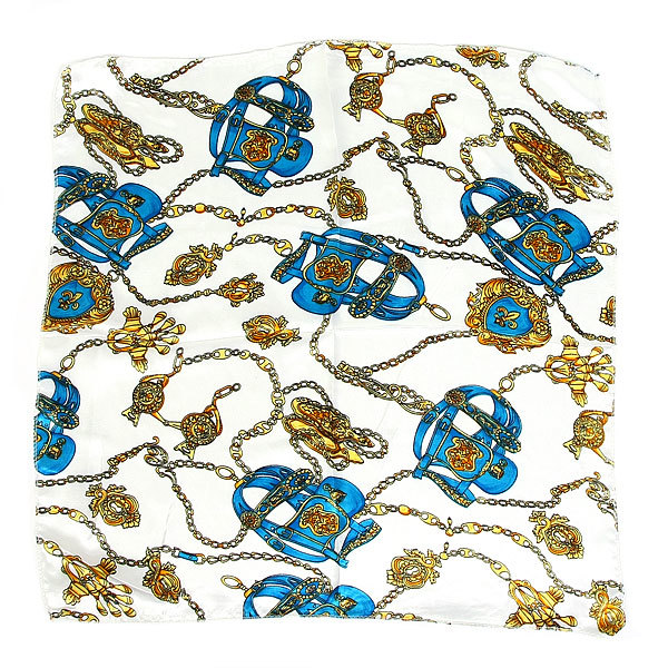 Платок женский ″Цепочки золотые″, микс 6 цветов, полиэстер, 50*50см купить оптом и в розницу