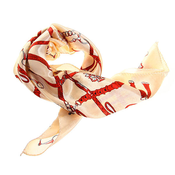 Платок женский ″Ремешки″, микс 6 цветов, полиэстер, 50*50см купить оптом и в розницу