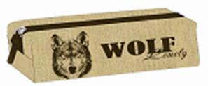 """Пенал-тубус Феникс нейлон """"Волк"""", б/нап., фигурн. собачка, 20*4*4,5см купить оптом и в розницу"""