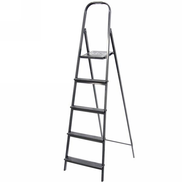 Стремянка металлическая 5 ступеней, высота до платформы 1130 мм, вес 5,5 кг, до 90 кг (СМ5) купить оптом и в розницу