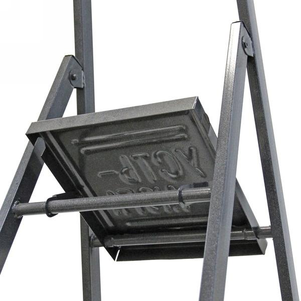 Стремянка металлическая 7 ступеней, высота до платформы 1670 мм, вес 7,8 кг, до 90 кг (СМ7) купить оптом и в розницу