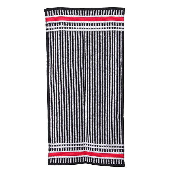 Махровое полотенце 50*100см черно-белое пестротканное пляжное ЖК100-4-117-100 купить оптом и в розницу