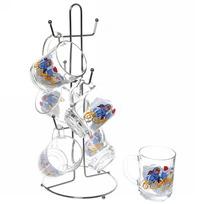 Набор кружек 6шт 250мл ″Дед Мороз″ на металлической стойке D55029/06 купить оптом и в розницу