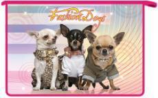 Папка д/тетр. 1отдел.на молнии А4 Fashion dogs 3 купить оптом и в розницу