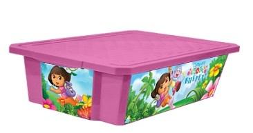 """Детский ящик для хранения игрушек """"X-BOX"""" """"ДАША ПУТЕШЕСТВЕННИЦА"""" 30л на колесах*8 купить оптом и в розницу"""