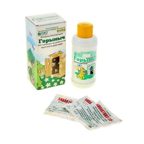 Биопрепарат для туалетов и выгребных ям Горыныч 12 шт купить оптом и в розницу