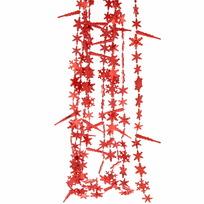 Бусы на ёлку красные 3м ″Снежинки и сосульки″ d-2.5см купить оптом и в розницу