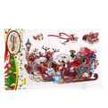 Наклейка декоративная 3D Новогодний праздник ″Упряжка″ 28*18см RXY 010 купить оптом и в розницу