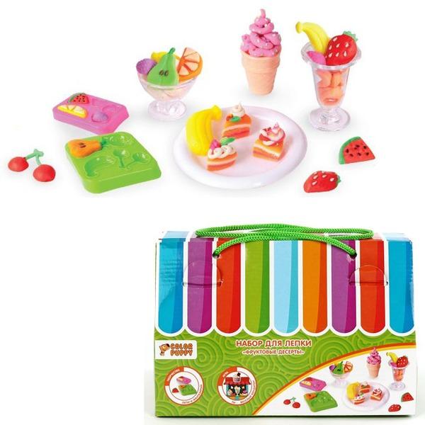 Набор ДТ Набор для лепки Фруктовые десерты 631029 Color Puppy купить оптом и в розницу