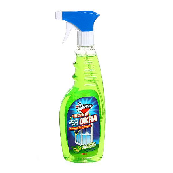 Средство для мытья стекол ЗОЛУШКА Чистые окна Зеленое яблоко с триггером 750мл. купить оптом и в розницу