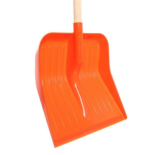 Лопата снеговая пластиковая с деревянным черенком купить оптом и в розницу