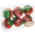 Новогодние шары ″С Новым Годом″ 6см (набор 6шт.) купить оптом и в розницу