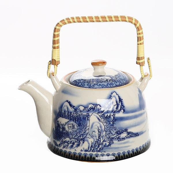 Чайник заварочный керамический 750 мл с ситом ″Зимушка″ ХХ661 купить оптом и в розницу