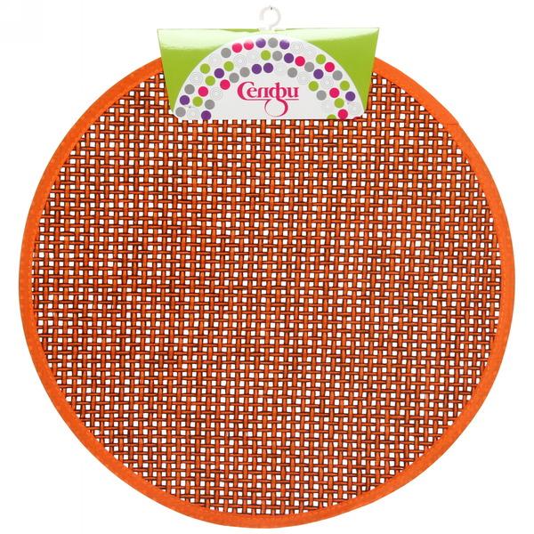 Салфетка на стол 38см плетеная, оранжевая Селфи купить оптом и в розницу