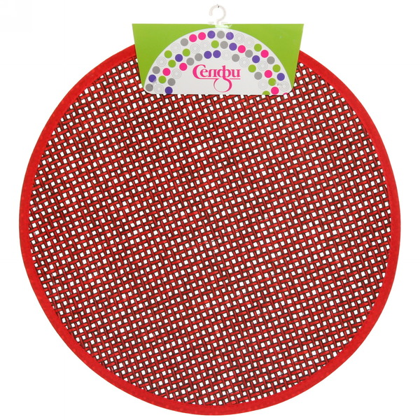 Салфетка на стол 38см плетеная, красная Селфи купить оптом и в розницу