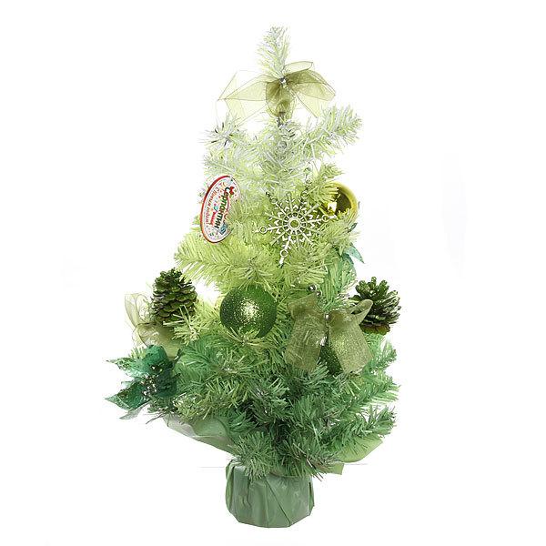 Елка искусственная 60см с украшениями зеленый C-12712 купить оптом и в розницу
