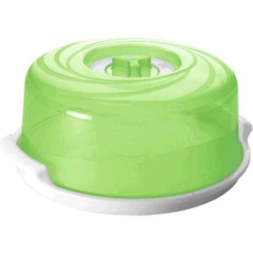 """Крышка для СВЧ """"Galaxy"""" с паровыпускным клапаном D250 с поддоном зеленый прозрачный *10 купить оптом и в розницу"""