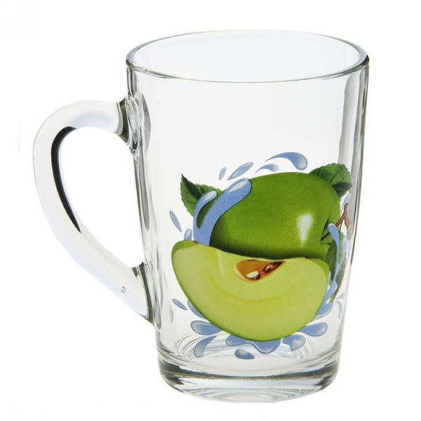 Кружка 300мл Капучино ″Яблоко зеленое к″ купить оптом и в розницу