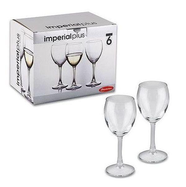 Набор фужеров д/белого вина ИМПЕРИАЛ ПЛЮС 6 шт. 190 мл. (1/4) купить оптом и в розницу