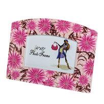 Фоторамка из керамики ″Розовые ромашки″ волна 10*15 см купить оптом и в розницу