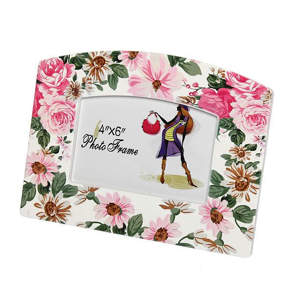 Фоторамка из керамики ″Весенний букет″ волна 10*15 см купить оптом и в розницу